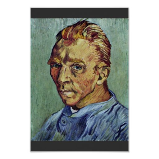 Autorretrato de Vincent van Gogh Poster