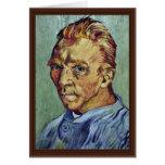 Autorretrato de Vincent van Gogh Tarjeta