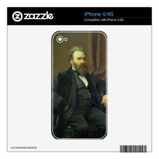 Autorretrato del artista, 1869 (aceite en lona) calcomanía para iPhone 4