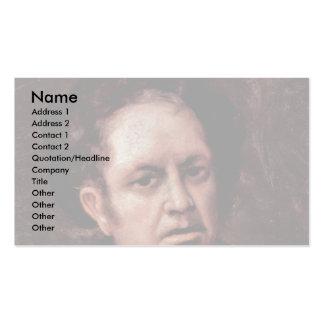 Autorretrato del artista de Francisco De Goya Plantilla De Tarjeta De Visita