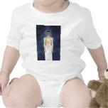 Autorretrato del Mitad-Desnudo contra un fondo Traje De Bebé