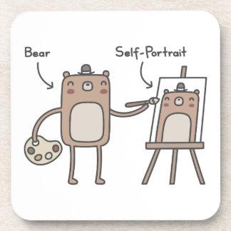 Autorretrato del oso posavasos