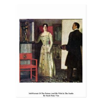 Autorretrato del pintor y de su esposa postal