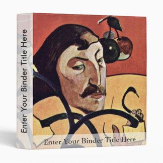 Autorretrato del Symbolist con halo de Gauguin Pau