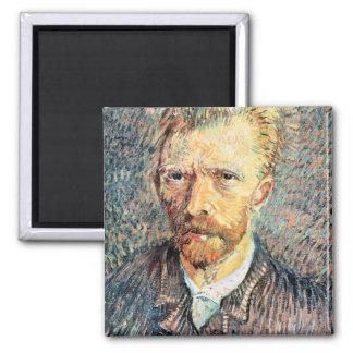 Autorretrato en camisa marrón de Vincent van Gogh Imanes
