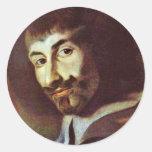 Autorretrato en la pintura de St Charles Borro Etiqueta Redonda
