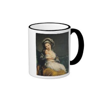 Autorretrato en un turbante con su niño, 1786 taza de café