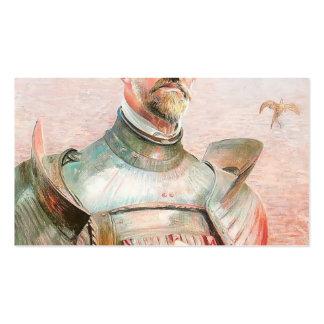 Autorretrato en una armadura de Jacek Malczewski Tarjeta De Visita