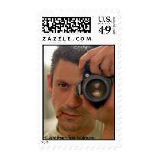 Autorretrato - franqueo sello postal