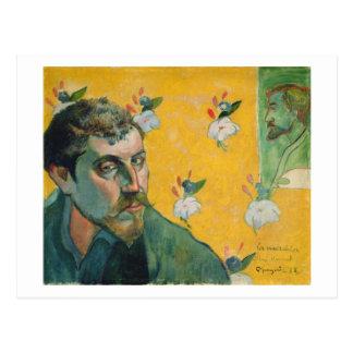 Autorretrato, Les Miserables, 1888 (aceite en lona Tarjeta Postal