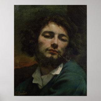 Autorretrato o, el hombre con un tubo, c.1846 póster