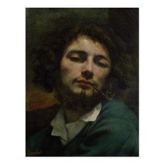 Autorretrato o, el hombre con un tubo, c.1846 tarjeta postal