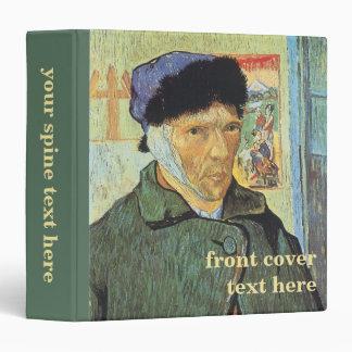 """Autorretrato, oído vendado de Vincent van Gogh Carpeta 1 1/2"""""""