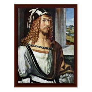Autorretrato, por Albrecht Dürer Tarjeta Postal