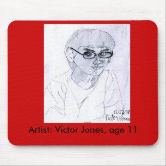 Autorretrato por la edad 11 de Jones del vencedor Alfombrillas De Ratones