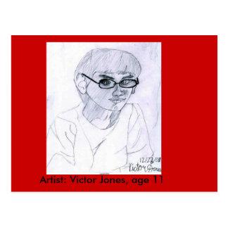 autorretrato por la edad 11 de Jones del vencedor Postales