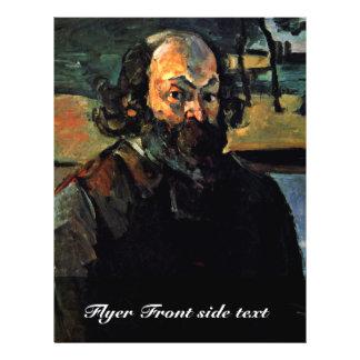 Autorretrato. Por Paul Cézanne (la mejor calidad) Tarjetas Publicitarias