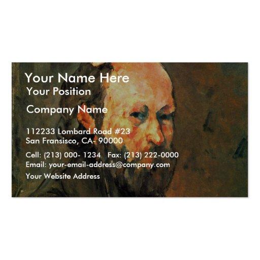 Autorretrato, por Paul Cézanne (la mejor calidad) Tarjetas De Visita