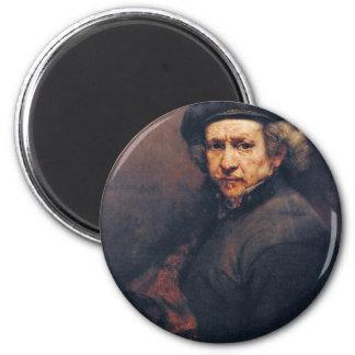 Autorretrato, por Rembrandt (la mejor calidad) Imán De Frigorífico