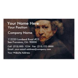 Autorretrato, por Rembrandt (la mejor calidad) Plantilla De Tarjeta Personal