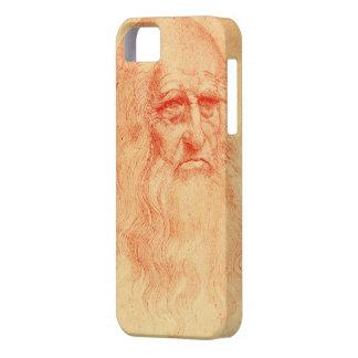 Autorretrato rojo de la tiza de Leonardo da Vinci iPhone 5 Carcasas