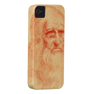 Autorretrato rojo de la tiza de Leonardo da Vinci iPhone 4 Case-Mate Cárcasa