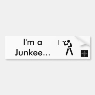 """Autosticker """"Dart Junkee """" Bumper Sticker"""