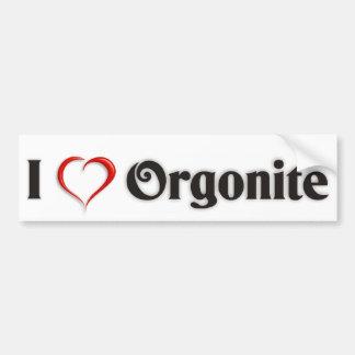 "Autosticker ""I love Orgonite"" - English version Car Bumper Sticker"