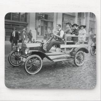 Autostopistas de la huelga del coche, 1900s tempra alfombrillas de raton