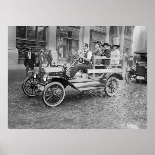 Autostopistas de la huelga del coche, 1900s tempra posters