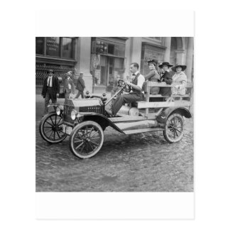 Autostopistas de la huelga del coche, 1900s tempra postales
