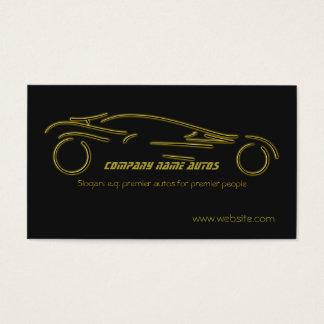 Autotrade Car - Gold Sportscar on black template Business Card