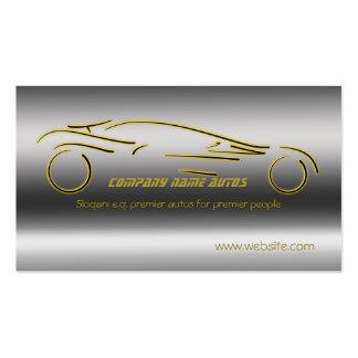 Autotrade Car - Gold Sportscar on steel-effect Business Card