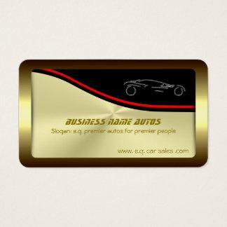 Autotrade Car - Silver Sportscar on gold-effect Business Card