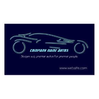 Autotrade Sportscar en plantilla azul Tarjetas De Visita
