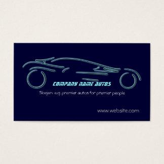 Autotrade Sportscar on blue template Business Card