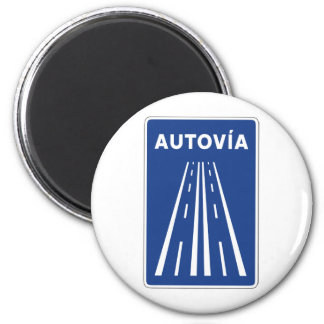Autovia Spanish Highway Sign Magnet