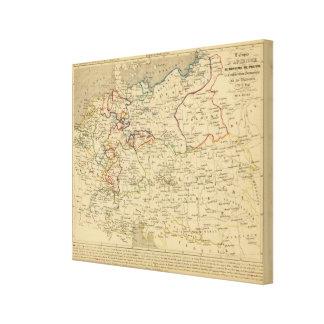 Autriche, Prusse, Confed Germanique, Pologne Canvas Print
