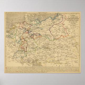 Autriche, Prusse, Confed Germanique, Pologne Poster