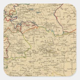 Autriche, Prusse, Confed Germanique, Pologne Square Sticker
