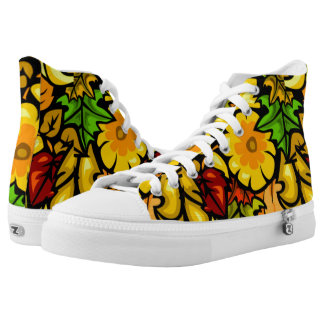 Auttum Fall Leaves Printed Shoes