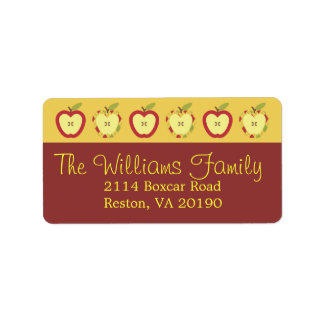 Autum Apples Labels