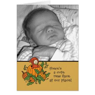 Autum Baby Birth Announcement (Boy or Girl)