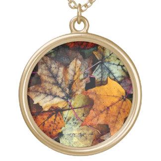 Autum Fall Foliage Photography - Necklace