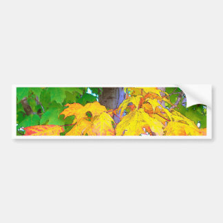 autum leaves bumper sticker