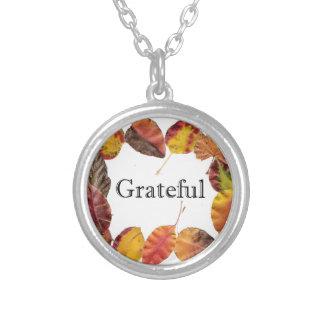 Autum Leaves Framing Grateful Custom Jewelry