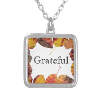 Autum Leaves Framing Grateful Necklaces