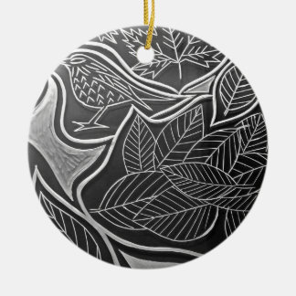Autum Meeting Ceramic Ornament