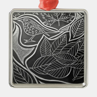 Autum Meeting Metal Ornament
