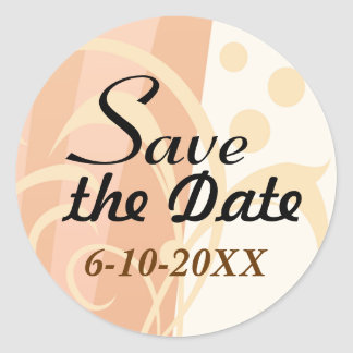 Autum Swirl Save the Date Stickers